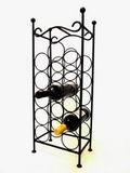 Kovový stojan na víno  - malý