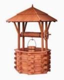 Dřevěná studna dekorační překládaná 60cm