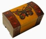 Šperkovnice, krabièka - døevìná, Motýl