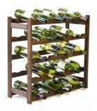 Regál na víno - 30 lahví bronz