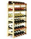 Døevìný regál na víno - 30 lahví Borovice