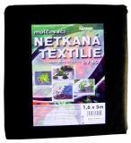 Textilie netkaná 1,6x3m èerná