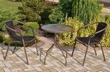 Zahradní nábytek kov + umìlý ratan 2+1