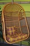 Houpaèka ratanová závìsná medová XL polstr okrový