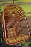 Houpaèka ratanová závìsná koòak XL polstr okrový