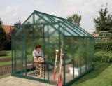 skleník VITAVIA URANUS 8300 matné sklo 4 mm zelený
