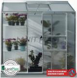 skleník VITAVIA IDA 1300 PC 4 mm støíbrný