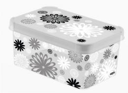 Dekorativní box S MILKY - BLACK DAISY 04710-B03