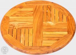 SERVITORE II - otoèný stolek z teaku