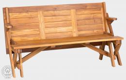MORENO - rozkládací lavice, skládací stùl z teaku