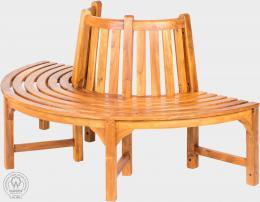 AGNES - kruhová lavice z teaku