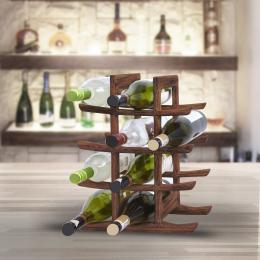 Stojan na víno z teakového døeva