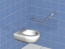 Koupelnové madlo - úhel 120 °