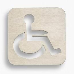 Oznaèení dveøí invalida - broušený