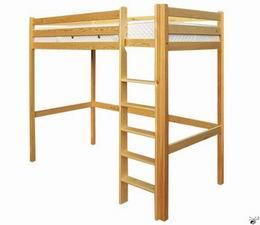 Døevìná patrová postel 90x200
