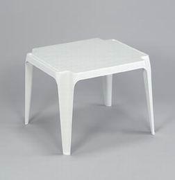 Dìtský plastový stolek bílý