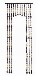 Korálkový závìs s prùchodem 80cm borovice x dub - DOPRAVA ZDARMA
