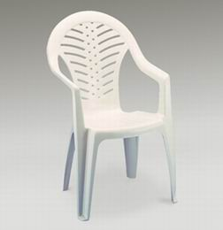 Stohovatelná plastová židle Ocean - bílá