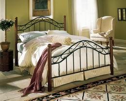 Kovová postel Lýdie 180x200