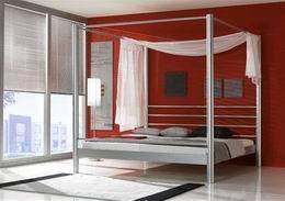 Kovová postel Lara Silber 140x200