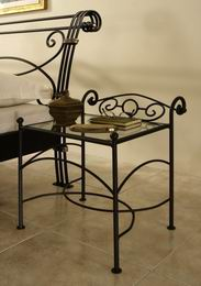 Kovový noèní stolek Bella 1