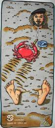 Plážová podložka se zipem- rak