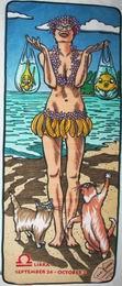 Plážová podložka se zipem- váhy