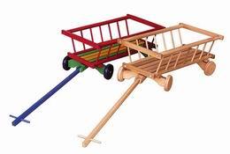 Vozík døevìný dekorativní pøírodní