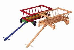 Vozík døevìný barevný  - dekorativní