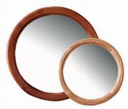 Døevìné zrcadlo kulaté