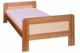 Døevìná postel Klára s ratanem 90x200