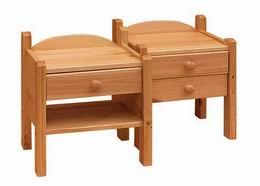 Noèní stolek s1 šuplíkem a polièkou