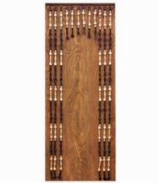 Závìs korálkový s prùchodem 90cm - pøírodní + dub