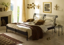 Kovová postel Bella 140x220