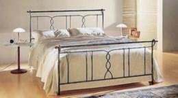 Kovová postel Justýna 90x200