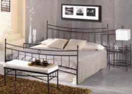Kovová postel Mariana 90x200