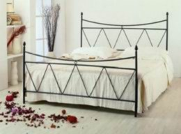 Kovová postel Albína 90x200