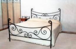 Kovová postel Antonie 90x200