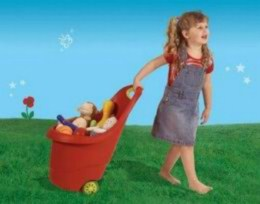 Dìtský zahradní vozík