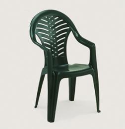 Stohovatelná plastová židle Ocean - zelená