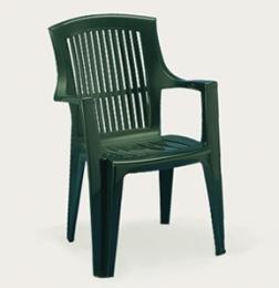 Plastová židle Arpa - zelená