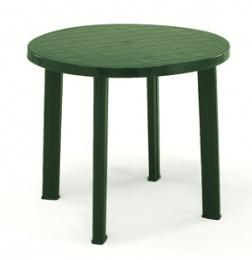 Zahradní plastový stùl Tondo - zelený