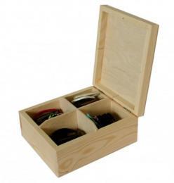Døevìná krabièka s víkem