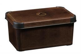 Dekorativní úložný box 7l Leather Curver
