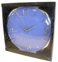 Nástìnné hodiny kulaté modré, 30,5 x 1,9 cm