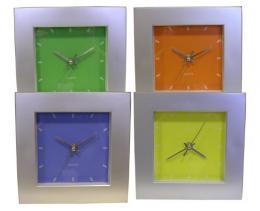 Nástìnné hodiny ètvercové, 20 x 20 x 4,5 cm