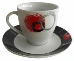 Hrnek na kávu - keramický kruhy