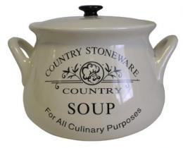 Mísa na polévku s poklièkou- Country