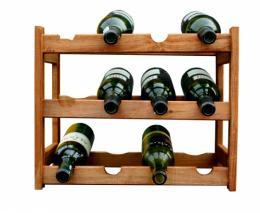 Regál na víno - 12 lahví olše