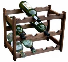 Døevìný regál na víno - 12 lahví bronz